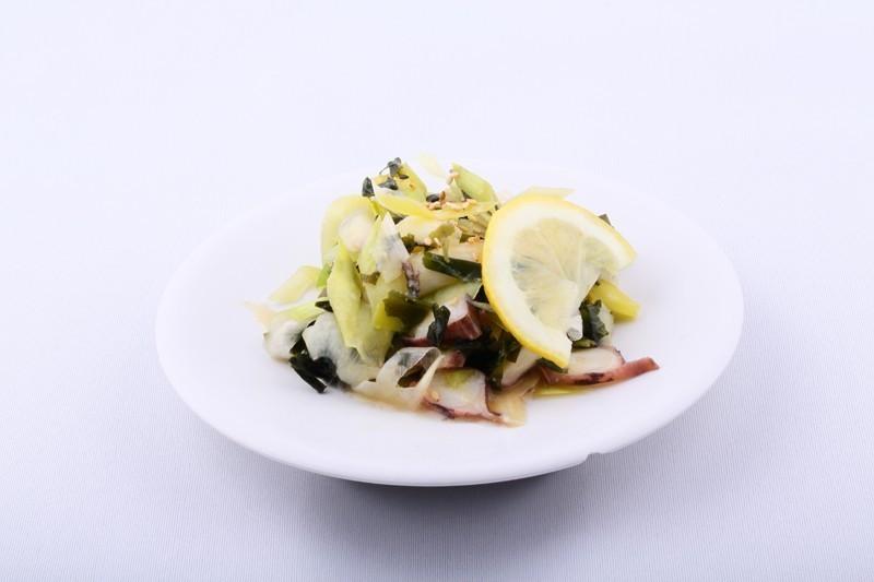 Salade poulpe et poireaux