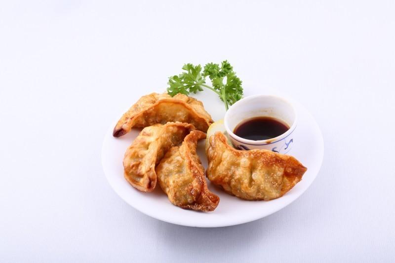 Gyozas crevette (raviolis frits)