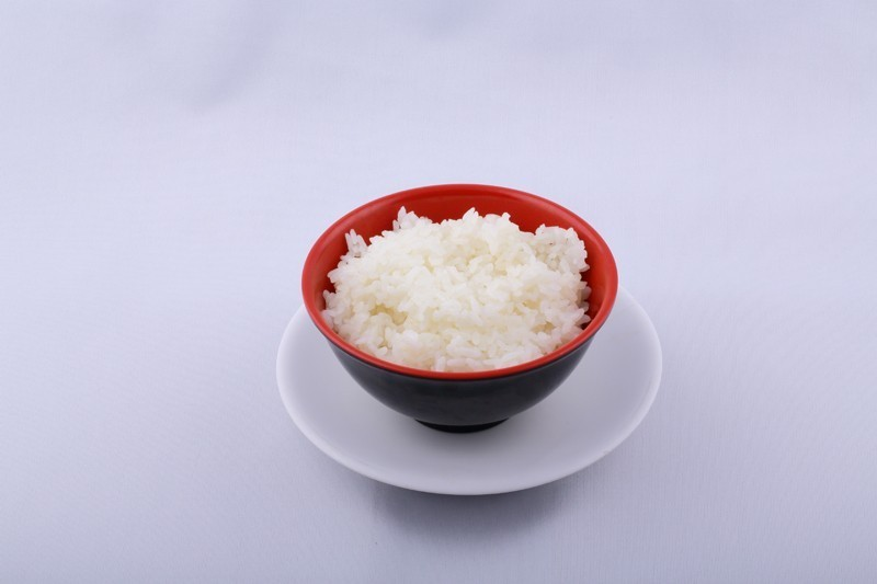 Bol de riz chaud nature
